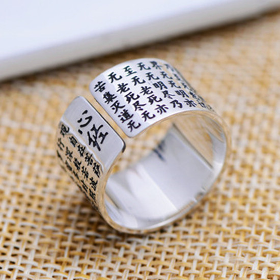 Thai silver jewelry retro Thai silver s999 fine silver rings couple of men and women a wide opening ring Free Shipping
