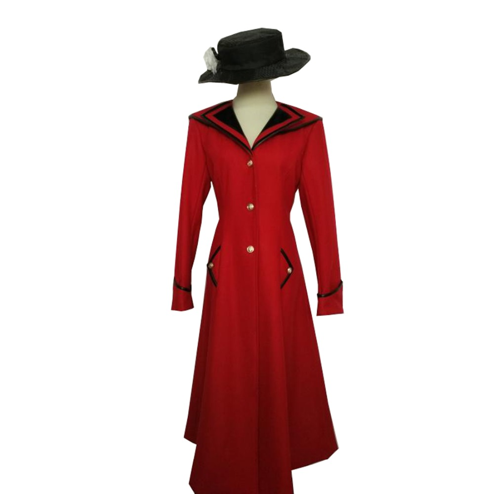 2018 Custimzied Mary Poppins Cosplay Costume Coat With Hat