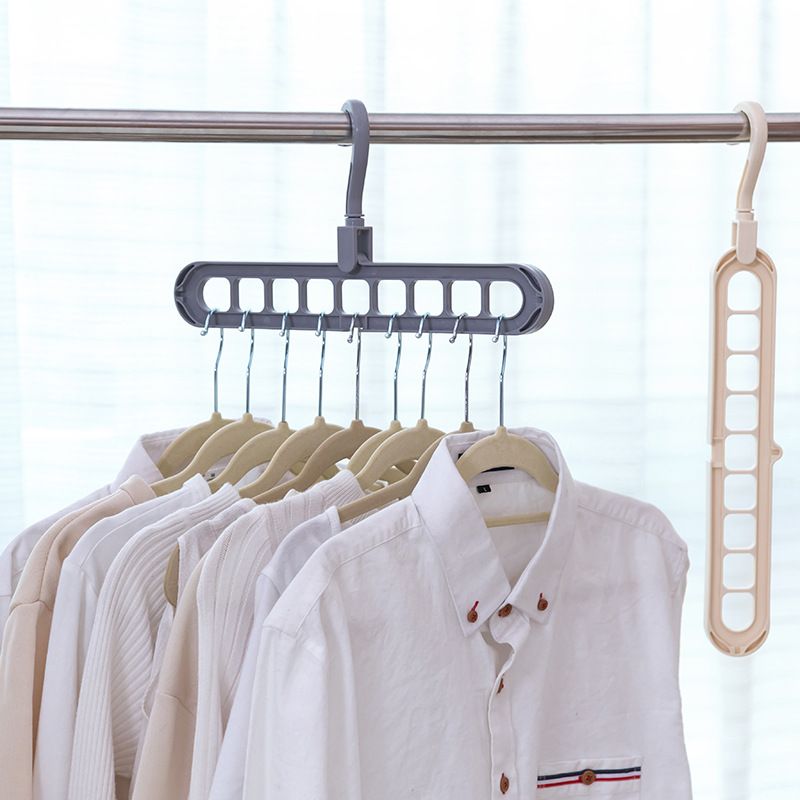 Multi-port 5 Colors Circle Clothes Hanger Drying Rack Multifunction Plastic Scarf Hangers Storage Racks