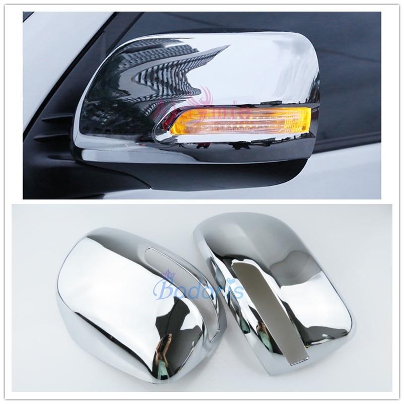 For Toyota Land Cruiser 150 Prado LC150 FJ150 2010 2018 Door Mirror Cover Rear View Overlay