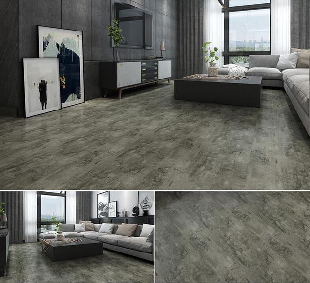 vintage pvc waterproof gray wood grain floor stickers modern self adhesive tile floor stickers living room decor