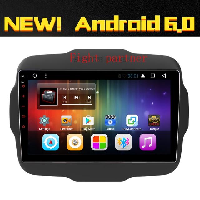 € 316 4  Pantalla grande del envío libre nuevo 10 2 pulgadas Android 6 0  coche DVD para jeep Renegade navegación GPS Radios BT wifi en Reproductor