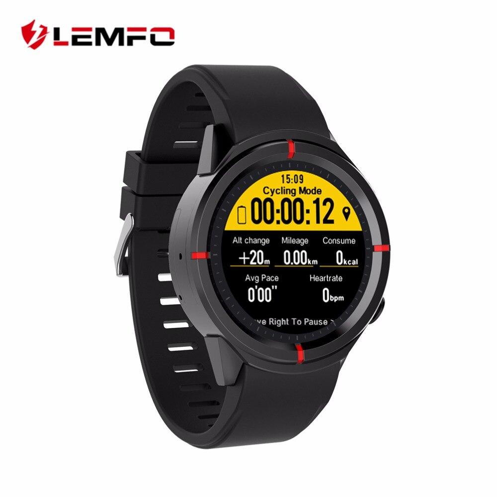 LEMFO gps часы бег спортивные Smartwatch мониторинга сердечного ритма поддержка SIM Bluetooth циферблат вызова Умные для мужчин