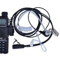 לקבלת baofeng bf 888s Baofeng מכשיר הקשר אקוסטית Tube אוזניות מיקרופון 2 לקבלת אפרכסת PIN PTT UV-5R BF-888S שני הדרך רדיו מיקרופון K נמל (4)
