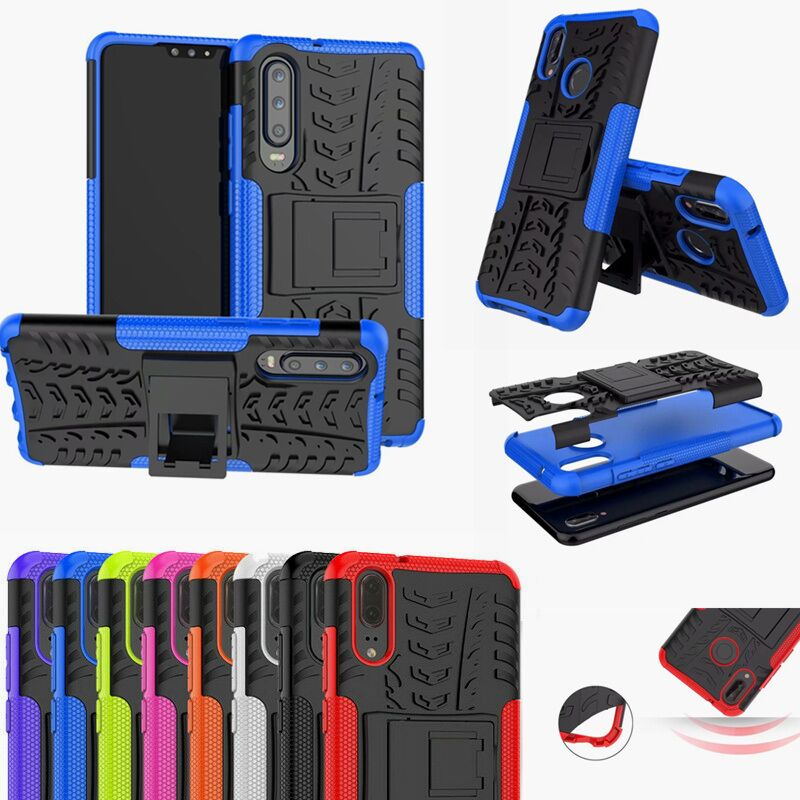 For <font><b>Huawei</b></font> P20 P30 Pro Dual Layer Armor Rugged Cover For Mate 20 P Smart <font><b>2019</b></font> Honor 10 Lite 8X 8S 8A Nova 3 i Y5 Y6 <font><b>Y7</b></font> 2018 <font><b>Case</b></font> image
