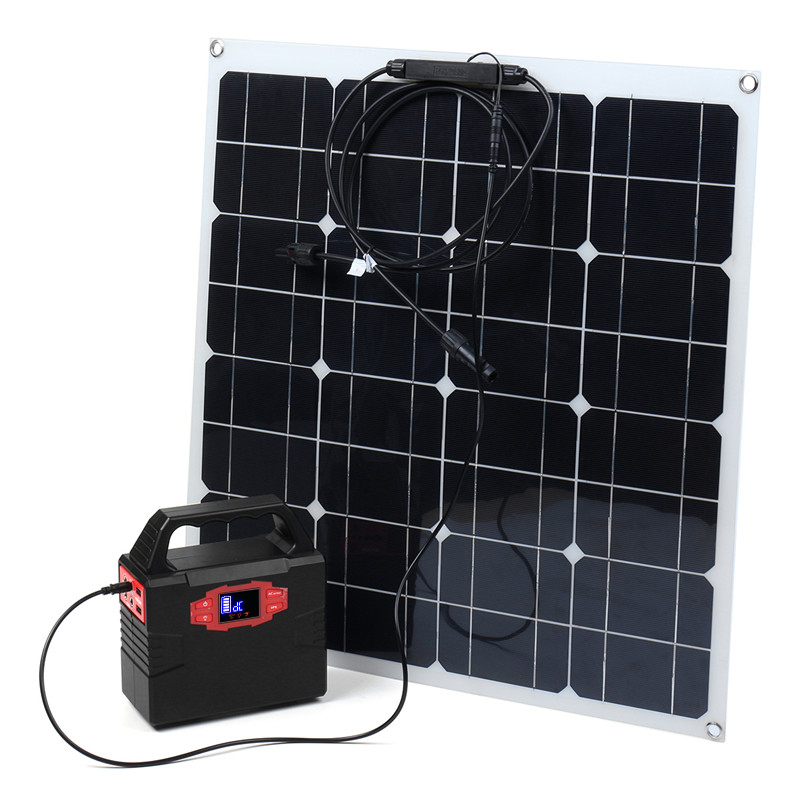 100W Solar Power Generation System 50W Solar Panel With MC4 Connector Charging RV Boat Solar System