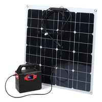 100W Solar Power Generation System 50W Solar Panel With MC4 Connector Charging RV Boat Solar System