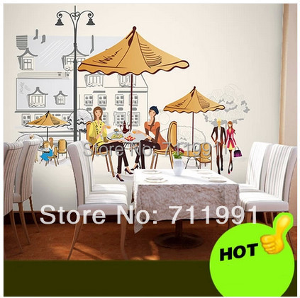 Free shipping custom murals commercial office space Cafe wallpaper wallpaper modern fashion