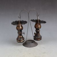 Rare Old Qing Dynasty 1822 1886 Brass Glass Oil Lamps Lamp Lovers Free Shipping