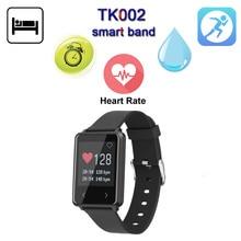 Новые TK002 IP67 Водонепроницаемый Smart Band монитор сердечного ритма браслет Фитнес трекер Smart Браслет для IOS Android телефона