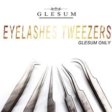 GLESUM  100% Stainless Steel anti-static superhard Eyelash Extension tool Best Tweezer