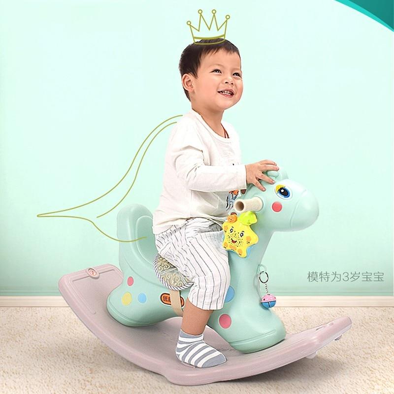 все цены на Baby Kids Toy Fashion Thickening Plastic Rocking Horse Rocking Bouncer Safe Rocking Chair