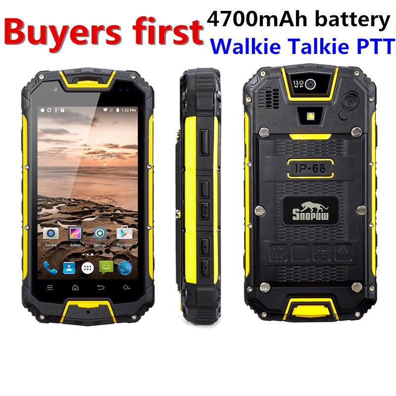 Snopow M5P IP68 Impermeabile 4g LTE android 5.1 Smartphone Walkie Talkie di RAM 2 gb di ROM 16GG NFC OTG 13.0MP 4.5