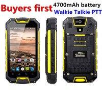 Snopow M5P IP68 Waterproof 4G LTE android 5.1 Smartphone Walkie Talkie RAM 2GB ROM 16GG NFC OTG 13.0MP 4.5 4700mAh mobile Phone