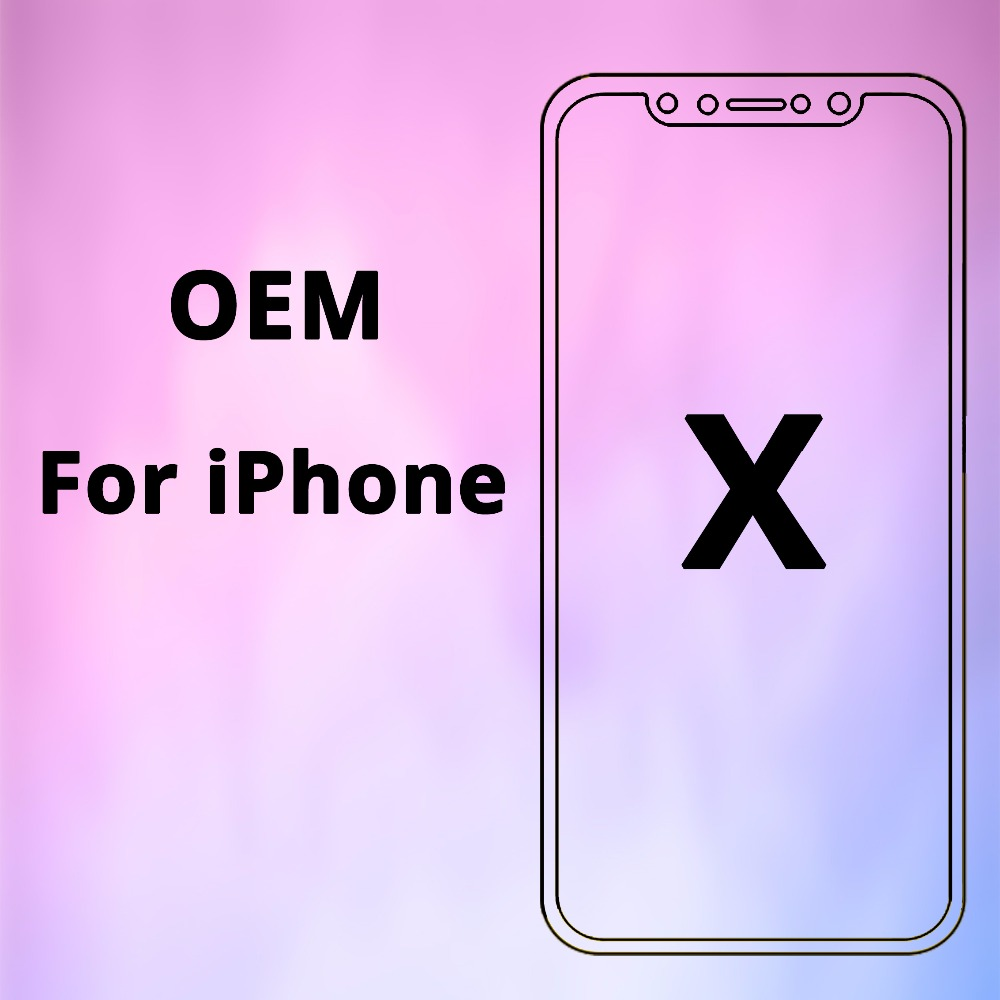 100% OEM AAA No Dead Pixel for IPhone X LCD Display Touch Screen 5.8 inch Digitizer Assembly Replacement Black or White Free DHL