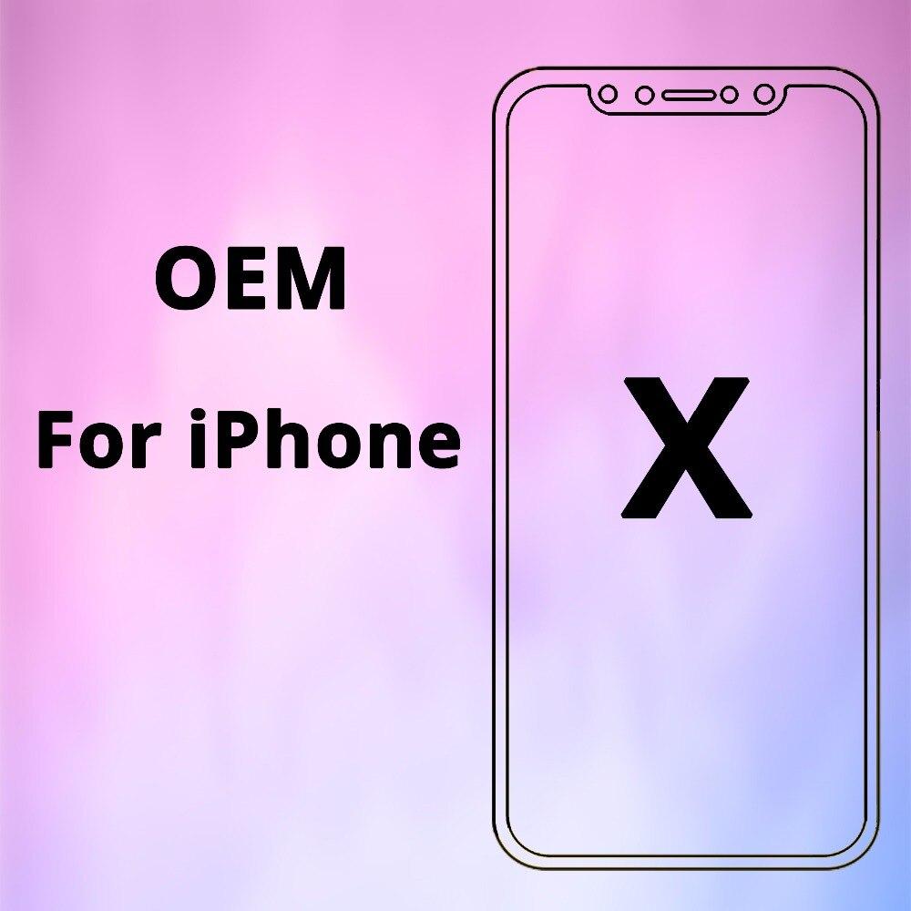 100% OEM AAA No píxeles muertos para el IPhone pantalla LCD táctil de X 5,8 pulgadas Digitizer Asamblea reemplazo negro o blanco DHL libre