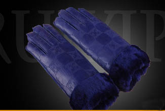GLV836 Bmen and women wool fur leather winter warm font b gloves b font motorcycle ride