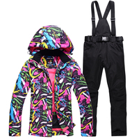 Skiing sets women ski jacket and pant snow suits Warm Waterproof Windproof winter outdoor clouthes Snowboarding Sets