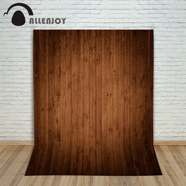 Photography Backdrops Light Coffee Color Wood Wood Brick Wall Backgrounds  For Photo Studio