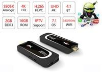 H96 Pro H3 TV Stick Amlogic S905X Penta Core GPU Android 7.1 TV Dongle 2GB RAM 16GB ROM 2.4G/5.G WiFi BT 4.0 1080P 4K HD Mini PC