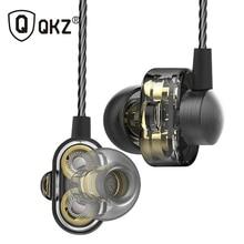 Mini Dual Driver Original hybrid dual dynamic driver QKZ DM8 Earphones in-ear earphone mp3 DJ Headset fone de ouvido auriculares