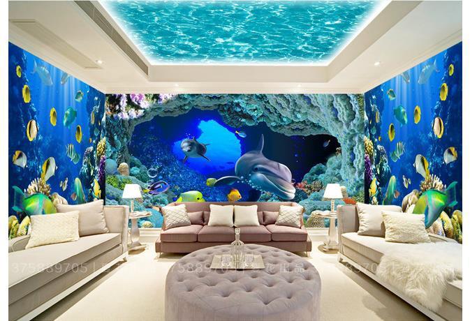 Underwater Wall Mural Custom Photo Wallpaper Large 3d Sofa Tv Background  Wallpaper Mural Part 33