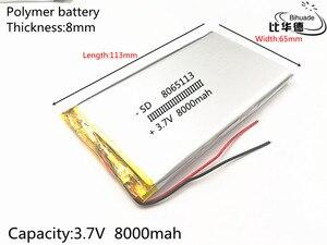 Image 2 - 8065113 3.7 ليثيوم بوليمر بطارية 8000 mAh ليثيوم يبو 3.7 v 8ah بطارية قابلة للشحن