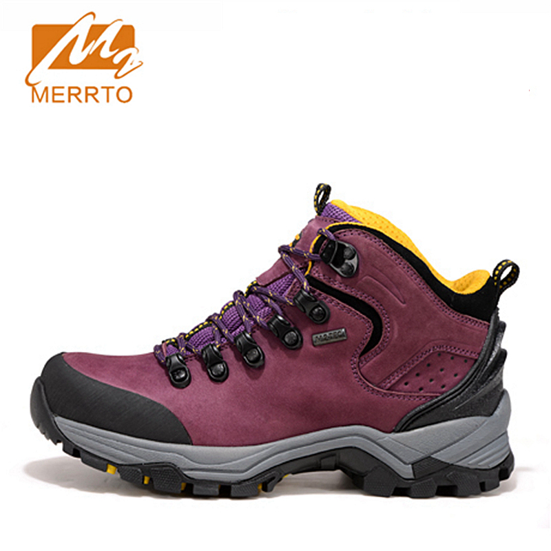 2017 Merrto Women Hiking Shoes Waterproof Outdoor Shoes Plus Velvet Warm Style Full-grain leather For Female Free Shipping 18335 набор буров hammer flex 201 902 dr sds набор no2 5 6 8 x 110 6 8 10 x 160 6шт