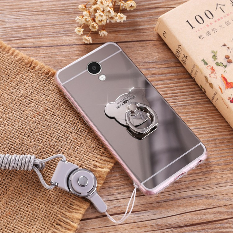 Gold Silver Rose Pink Phone Case For Samsung Galaxy A5 A8 A3 A7 S8 S9 S7 Luxury Mirror Cover Shell With Hair ball Tassels Chain