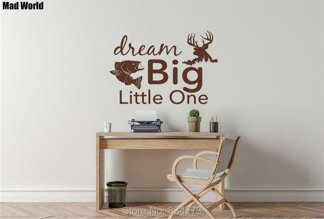 Mad World-Dream Big Little One Rustic Wall Art Stickers Wall Decal Home DIY Decoration & Mad World Dream Big Little One Rustic Wall Art Stickers Wall Decal ...