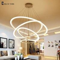 Новый светодио дный подвесные светильники Современные для столовой гостиной 4/2 круг кольца акрил светодио дный освещения потолочный свети