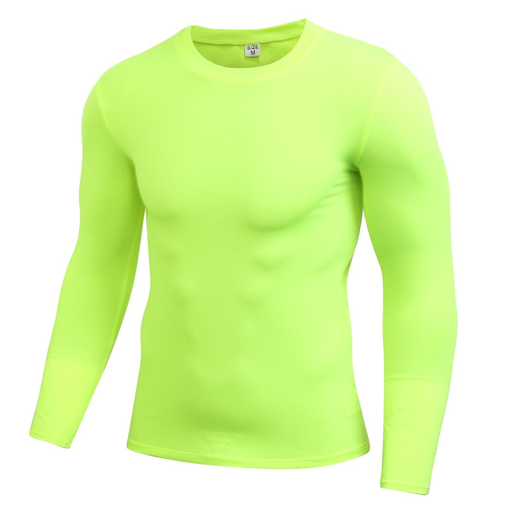 2018 new Men Long Sleeve Sports Compression Basketball Running Tops Tight T Shirts Fast Drying Fitness GYM Base Layer Tops