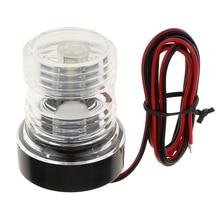 Marine Boat All-Round Anchor 360 Degree LED Navigation Light, White 12V Lampara de popa feu de poupe