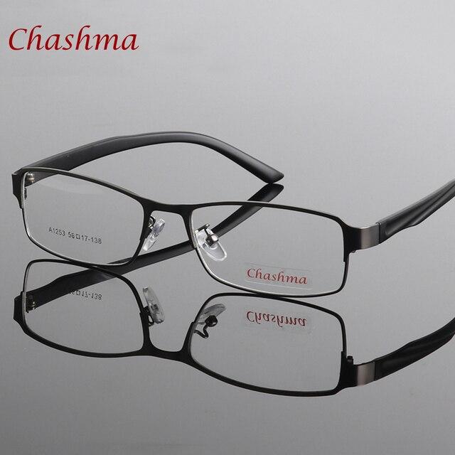 Chashma Marca Homens Full Frame Óculos Moda Prescrição Óptica Armações de  Óculos de Lente Clara Óculos b00f9986ad