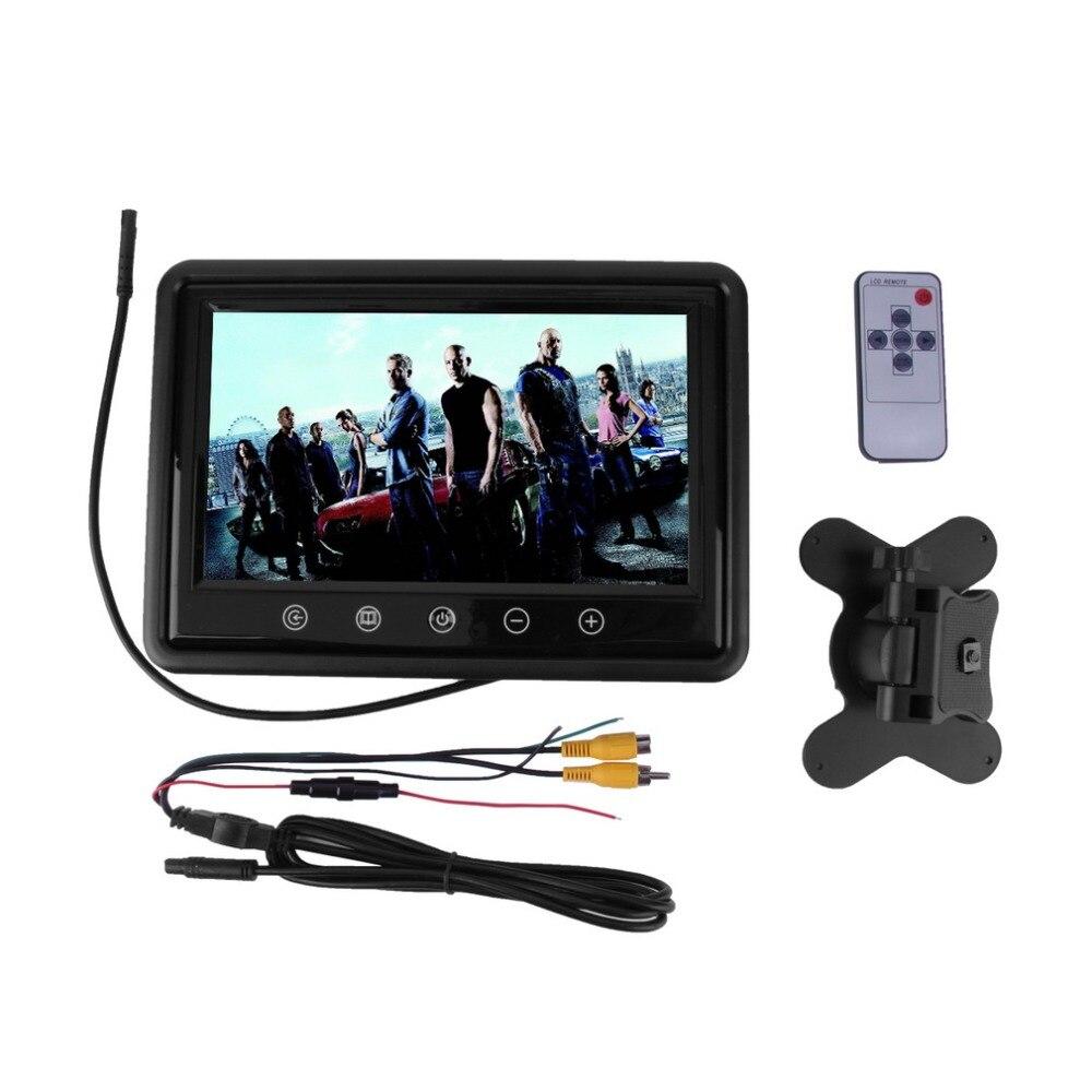 ФОТО 9 Inch LCD Monitor Rear View Computer Monitor DVD VCR Headrest HD VGA/AV as Computer Screen Parking Auto-monitores
