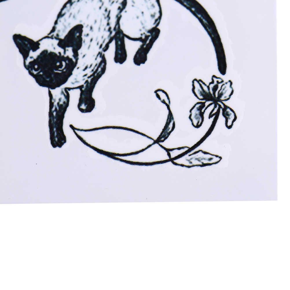 Actriz Porno Tatuaje Gato Estrellas Espalda tatuaje temporal de gatos negros sexy a prueba de agua tatuaje de flash de  brazo de arte corporal pegatinas tatuaje de henna falso tatuaje indoloro