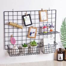 Grid Hanging Basket Iron Wall Mounted Decoration Innovative Flower Pot Shelf Small Items Display Rack Indoor Pendant(China)
