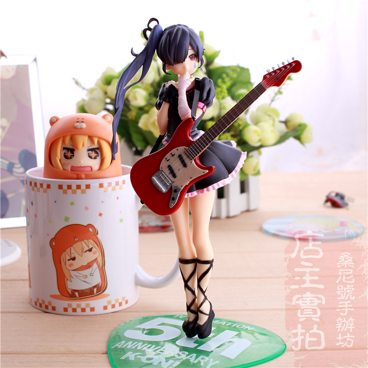 Hot Sale Comic Anime K ON ! 5th Anniversary Nakano Azusa With Guitar 1/8 scale 8 HTT Action Figure