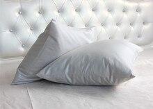 Fundas de almohada 100% algodón egipcio 1200 TC, 40x60 cm, 4 unidades personalizadas, color blanco, gris claro, beige, gris