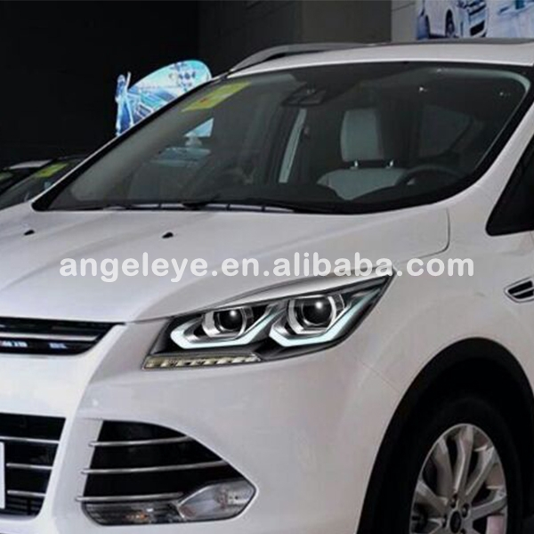 For FORD Kuga/ Escape LED Strip Angel Eyes Head Lamp 2015 year LD