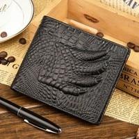 Baellerry Wallet 2018 New Men'S Casual Short Crocodile Pattern Wallets Layer Leather Retro Slim Luxury Designer Brand Purses