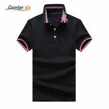 Covrlge 2018 New Ashion Men PoloShirt Business British Style High Quality Short Sleeve Breathable Tee Shirt MTP093