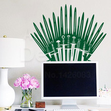Iron Throne inspired water proof Wall Sticker – Available in 7 Colors