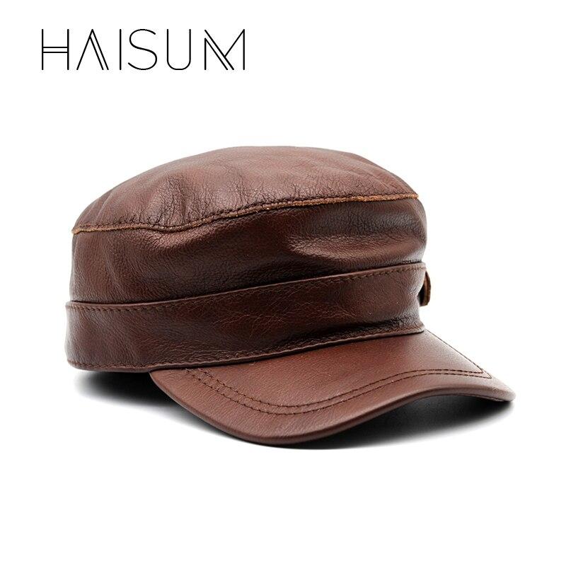 2018 Zeitlich begrenzte Ausgestattet Erwachsene Unisex Haisum Echtem Leder Baseball-Kappe Hut Männer der Marke Neue Rindsleder Newsboy Caps hüte Cs70