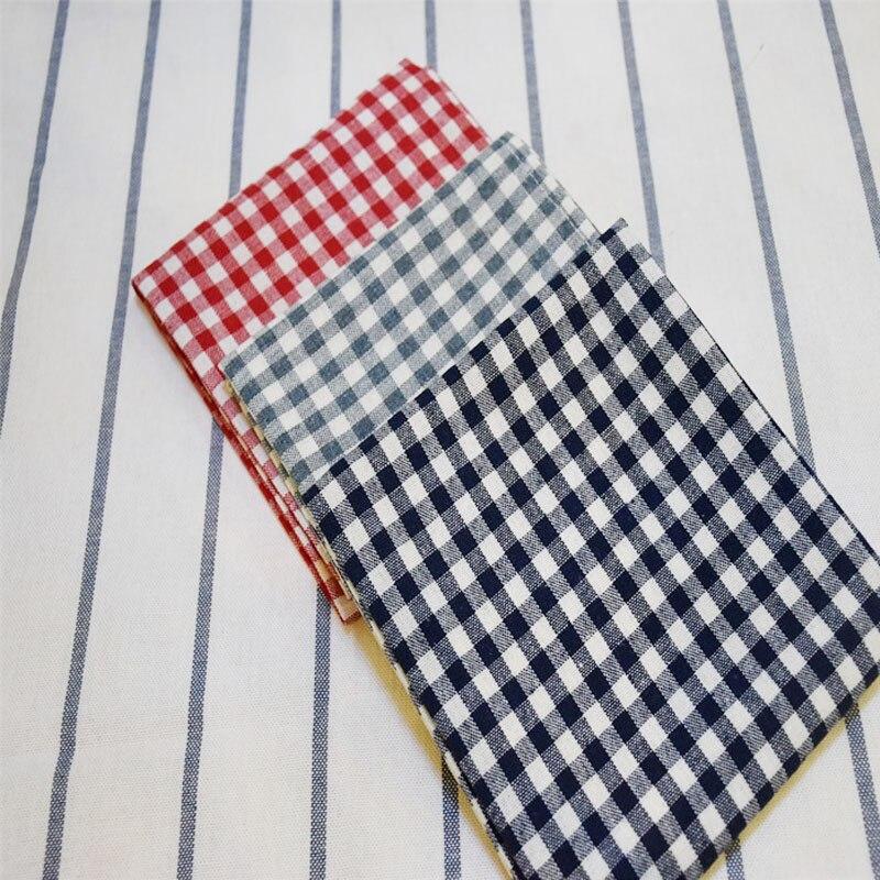 100 Pcs Coton Serviettes En Tissu À Carreaux Napperon Cm Accueil