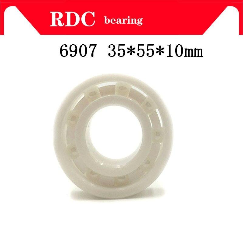 Free Shipping 6907 35x55x10mm High quality full ZrO2 ceramic ball bearing zirconia bearing 35*55*10mm Factory sales цена и фото