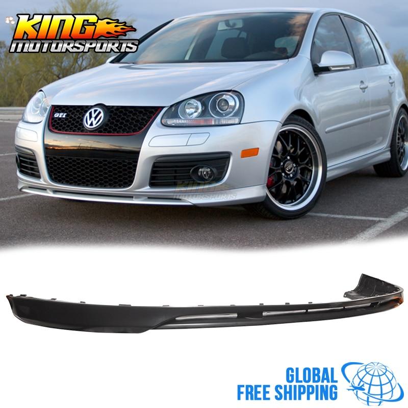 For 05 10 VW Golf MK5 GTI Jetta V Style Front Bumper Lip Spoiler Urethane  Global Free Shipping Worldwide