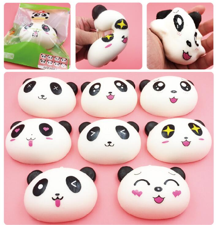 Cute Panda Cream Scented Squishy Slow Rising Squeeze Kid Toy Phone Charm Gift keys pendant cute squishies anti stress toys