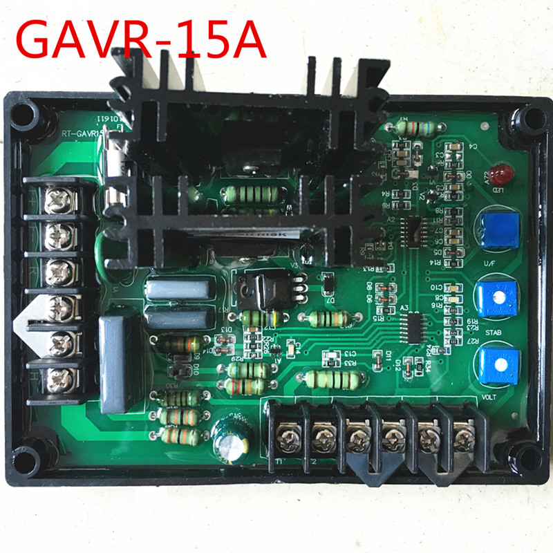 Generator GAVR-15A Universal Brushless Generator Avr 15A Voltage Stabilizer Automatic Voltage Regulator Module fast shipping gavr 15a universal brushless generator avr 15a voltage stabilizer automatic voltage regulator blue capacitance