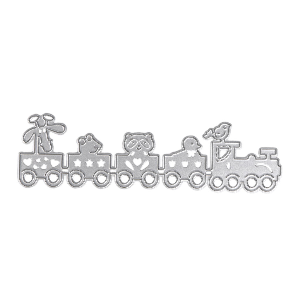 Cartoon Train Metal Skæring Dæber Skabelon til DIY Scrapbog Photo Album Dekorative Papir Metal Craft Embossing Folder Stencil